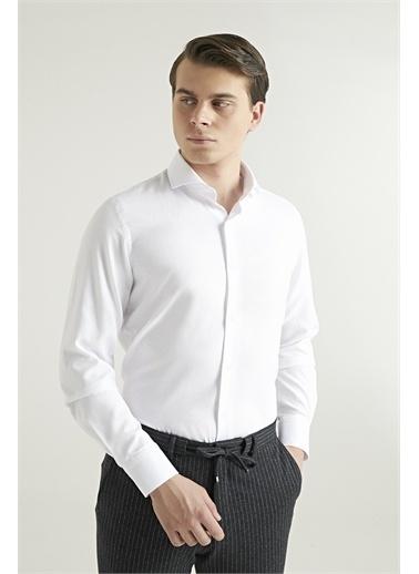 D'S Damat Slim Fit Gömlek Beyaz